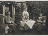 Typical Edwardians Taking Afternoon Tea in the Garden