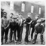 Working Class Children in Sheffield Playing in the Street