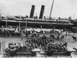 The Middlesex Yeomanry Disembarking from the Nile Transport at Alexandria During World War I