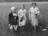 Three Girls with Flowers  Box Hill 1936