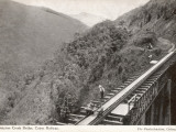 Surprise Creek Bridge on the Cairns Railway  Queensland  Australia  1930s