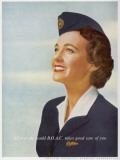BOAC Air Stewardess 1956
