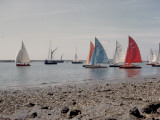 Yachts with Different Coloured Sails at Burnham on Crouch  Essex
