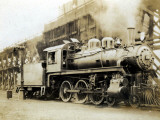 Steam Engine from the Canadian Pacific Railway  Vancouver  Canada