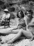 Three People on a Beach - Two of Them are Mervyn and Elizabeth Thorneycroft