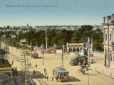Trams on King William Street  Adelaide  South Australia  1900s