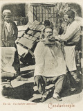 Travelling Barber  Turkey - Shaving a Customer