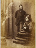 The Medium Stainton Moses  with Mrs Speer and an Unidentified Spirit Figure