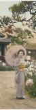 A Geisha Picking Flowers
