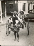 A Horned Rickshaw Man in Bulawayo  Southern Rhodesia (Now Zimbabwe)
