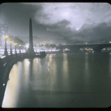 A View Along the River of Cleopatra&#39;s Needle at Night