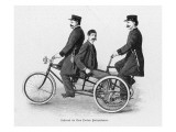 Three Policemen on a Tricycle Introduced to the New York Police Force