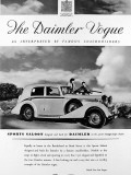 Advertisement for Daimler Vogue Sports Saloon Car