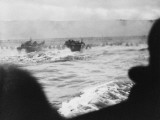 D-Day - Coastguard Landing Barges under Heavy Fire