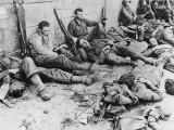D-Day - US Troops Resting Following Initial Assault