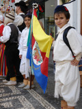 Gaula Boys with Flag, Funchal, Madeira Papier Photo