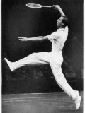 Fred J Perry Playing on the Centre Court at Wimbledon