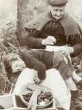 Cornish Grandmother Repairs Her Grandson's Clothing