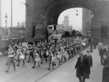 Regimental March across Tower Bridge  London