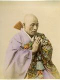A Japanese Buddhist Man at Prayer