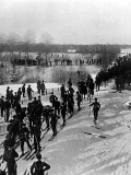 Norwegian Ski Troops Near Christiania  1905
