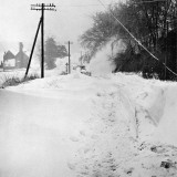 Snow Blocked Road in Kent  1963