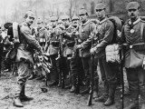 Mobilisation of the German 4th Infantry Grand Regiment in Berlin  Germany During World War I