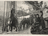 Hoisting Sail in the Atlantic  1884