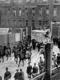 Meat Vans Leaving the Docks During Strike