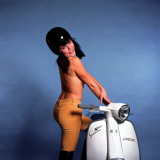 Female Model with Lambretta 1960s