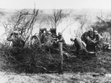 German Artillery Firing in Champagne  France During World War I