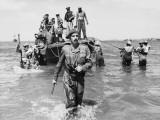 Brigadier Cotterill-Hill Wades Ashore  Burma