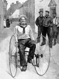 Royal Navy Sailor on a Tricycle  1891