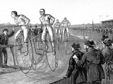Bicycle Race at Lillie Bridge  London  1875