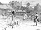 Bicycle Race at the Oval  1888