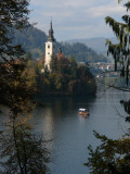Lake Bled with Church  Slovenia