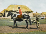 Russian Farm Worker on a Horse