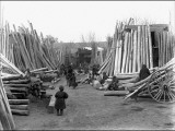 Scene in a Timber Yard  Kashgar  Western China