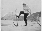 Sir Arthur Conan Doyle Demonstrating a Novice Turning Whilst Skiing in the Alps