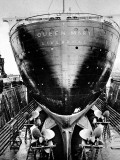 RMS 'Queen Mary' in Dry Dock  Southampton  April 1936