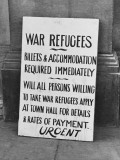 Refugee Accommodation Request WWII
