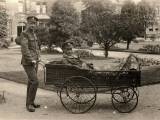 Patient on Trolley at Reading War Hospital  Berkshire