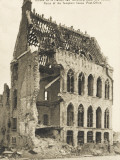 Ruins of the Templars House and Post Office  Ypres - End of WWI