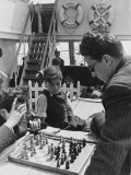 Refugees Playing a Game of Chess on the Ss Sinaia from Marseille During World War Ii