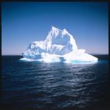 A Floating Iceberg in Disko Bay at Qeqertarsuaq (Godhavn)  Greenland