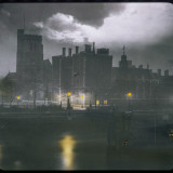 A View across the River Towards Lambeth Palace by Night