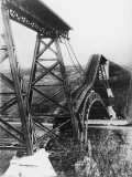 Collapsed Bridge  Poland 1914