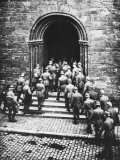 German Troops Entering Church During World War I