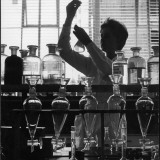 A Chemist at Work in Her Laboratory