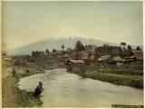 Mount Fujiyama from Omiya Village  Japan